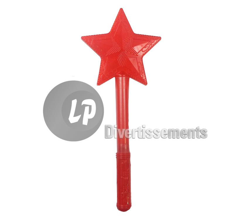 Bracelet Lumineux Rouge Bâton Lumineux Etoile Rouge