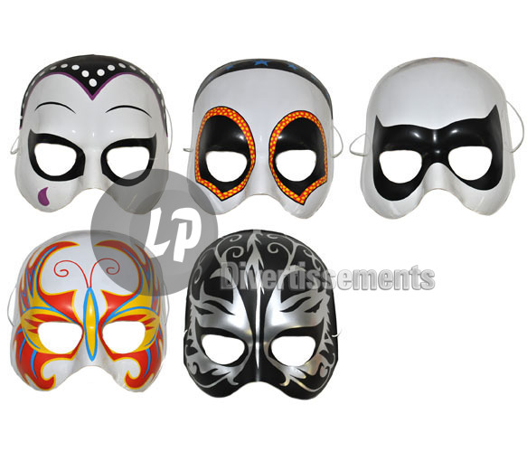 demi masque coque super héros MIX