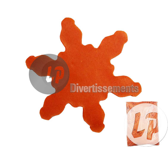 confettis de scène FLOCON 1Kg ORANGE Slowfall