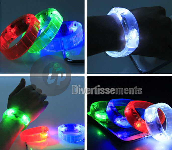 bracelet lumineux LED Sound Control ROUGE