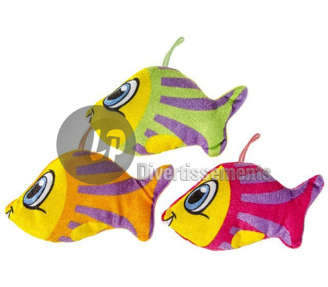 peluche poissons 15cm MIX