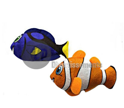 peluche poisson tropical MIX 15cm