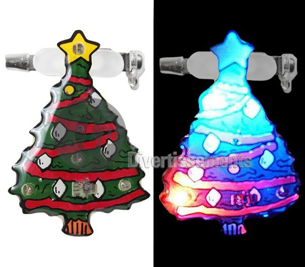 badge/magnet LED sapin de Noël