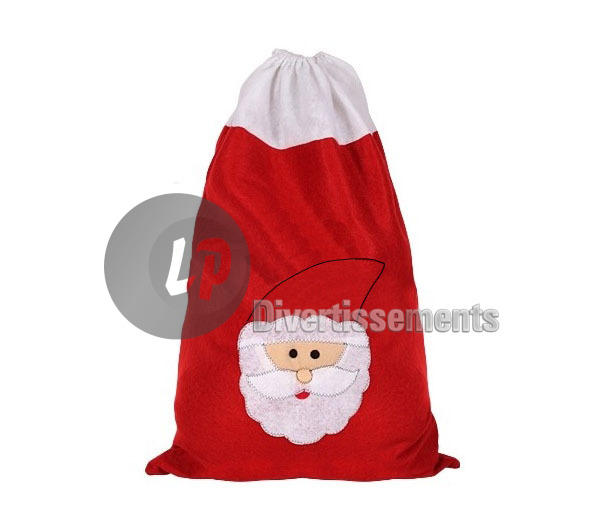 sac de p re no l rouge feutrine 50x70cm. Black Bedroom Furniture Sets. Home Design Ideas