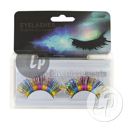 faux cils brillants MULTICOLORE 5.5cm