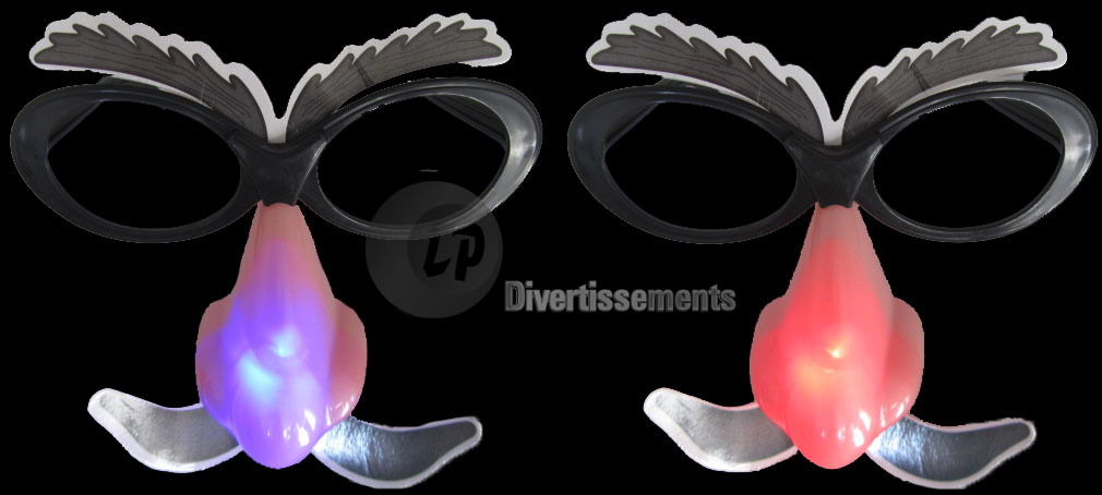 lunettes moustaches lumineuses