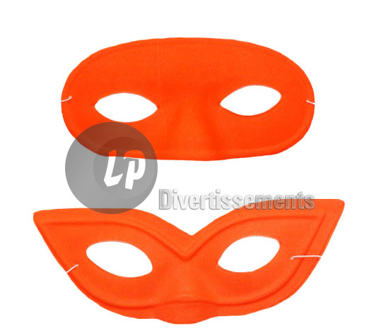 masque PVC loup ORANGE NEON FLUO