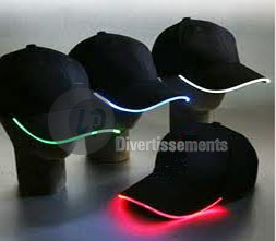casquettes lumineuses LED