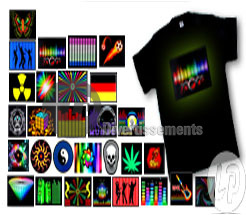 t-Shirt lumineux T-Qualizer EL