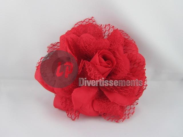 czerwona róża klip<br>barrette