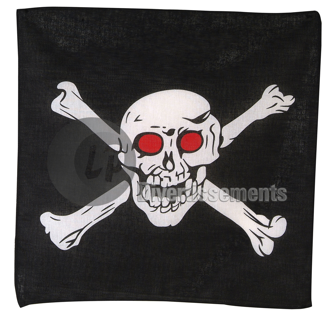 bandana pirate aux orbites rouges