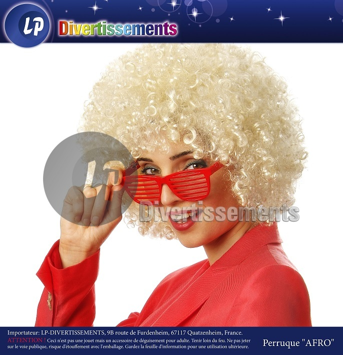 perruque afro moyenne BLOND CLAIR
