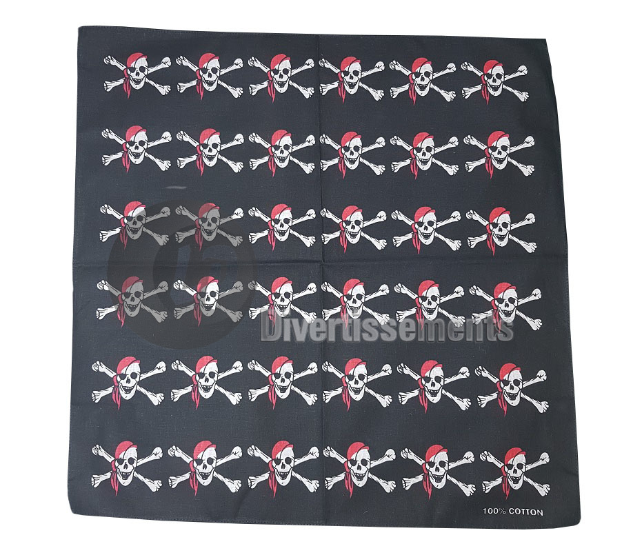 bandana 36 pirates NOIR & ROUGE