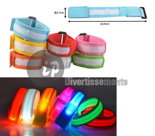 bracelet lumineux LED Jogging ROUGE