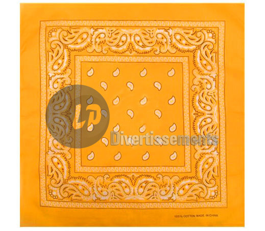 bandana style cachemire ORANGE FLASHY