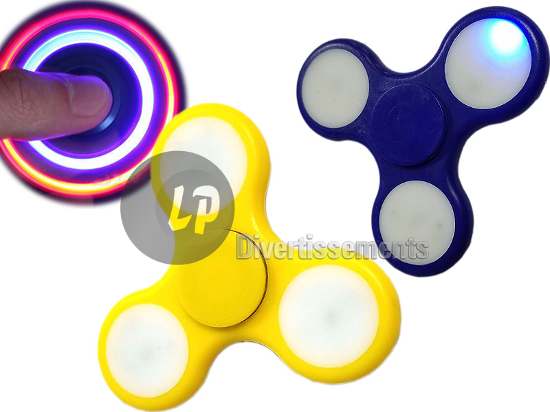toupie hand spinner lumineux LED 7.5cm