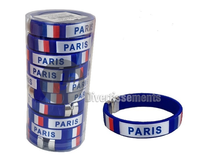 lot de 10 bracelets France Paris