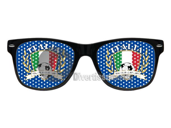 Gläser italien<br>Gitter (blau)