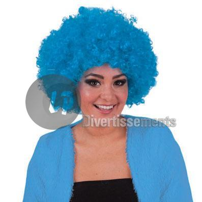 perruque hippy afro TURQUOISE