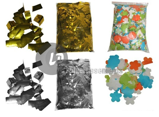 confettis de scène RECTANGLE 1Kg GOLD OR Slowfall