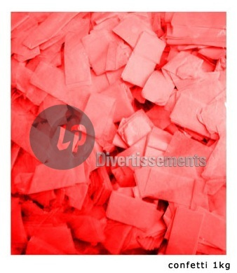 confettis de scène RECTANGLE 1Kg ROUGE Slowfall