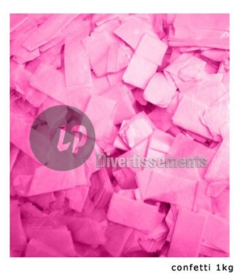 confettis de scène RECTANGLE 1Kg ROSE Slowfall