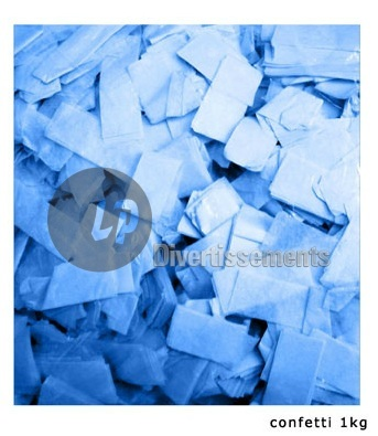 confettis de scène RECTANGLE 1Kg BLEU Slowfall