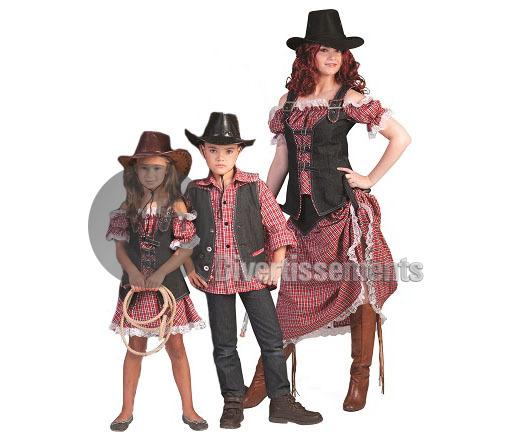 Taille Longue Xxl Cowgirl Robe Adulte De Déguisement 3q54LRAj