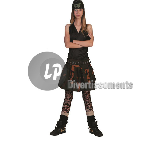 jupe camouflage army femme Taille S/M