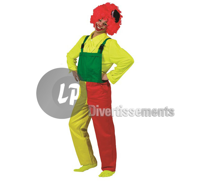 salopette clown tricolore adulte Taille S