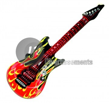 guitare gonflable flammes 1m