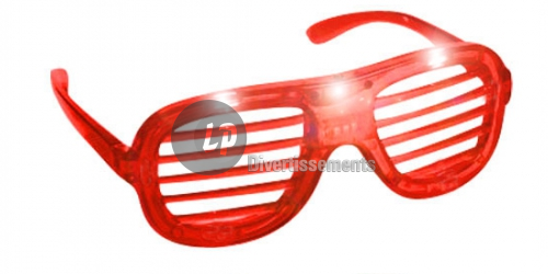 lunettes lumineuses stores 3 LEDs ROUGE