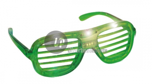 lunettes lumineuses stores 3 LEDs VERT
