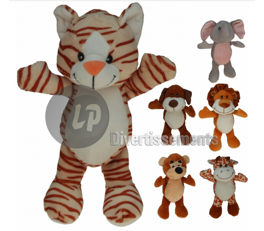 peluche animaux du zoo MIX 18cm