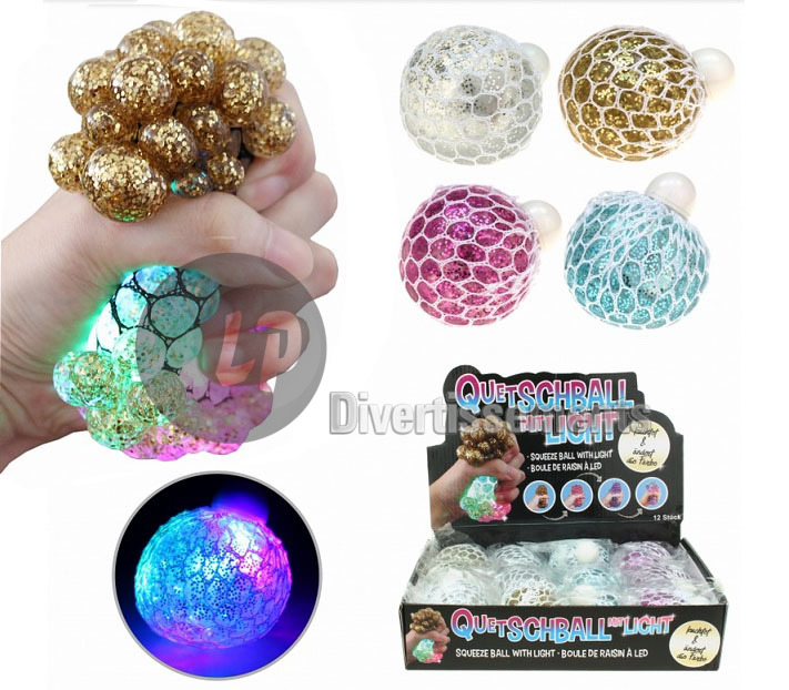 balle Quetschball lumineuse LED 7cm MIX
