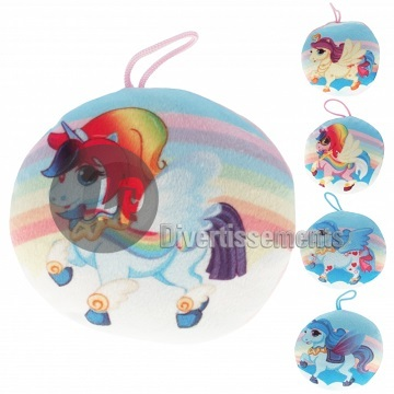 coussin rond licorne MIX 15cm