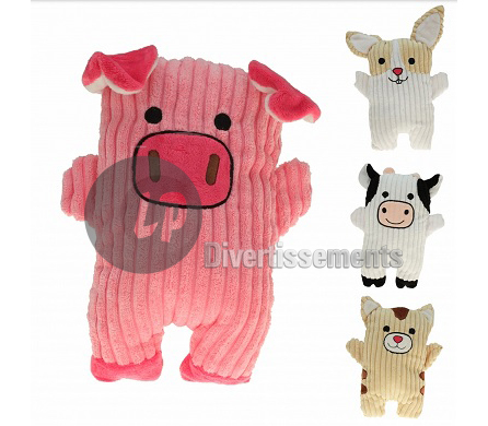 peluche animal de la ferme MIX 25cm