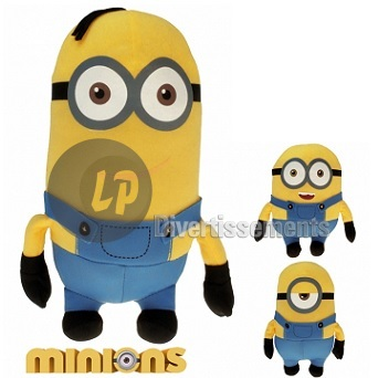 peluche Minions™ avec attache MIX 12cm