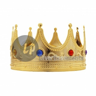 couronne OR avec incrustations pierres 21cm