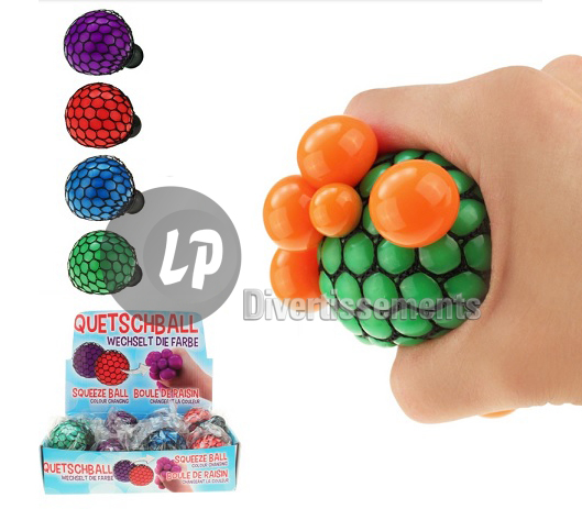 balle Quetschball bi-couleur MIX 6cm