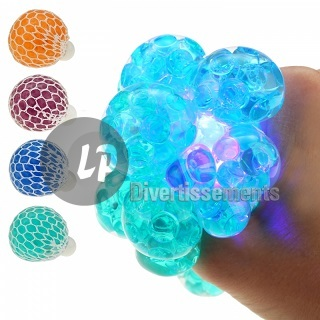 balle Quetschball Flutschi lumineuse LED MIX 6cm