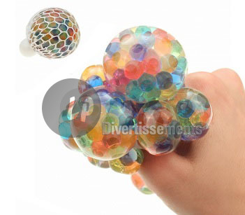 "balle Quetschball ""Spaceball"" muticolore 6cm"