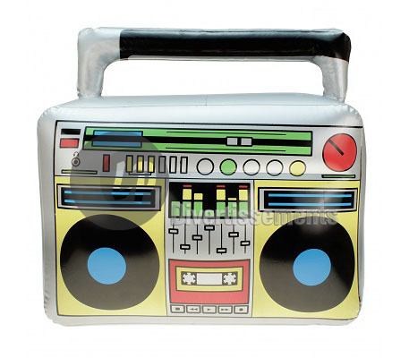 ghetto blaster gonflable 45x42cm