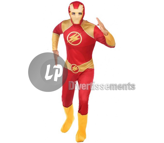 Costume super héros ROUGE Taille XL