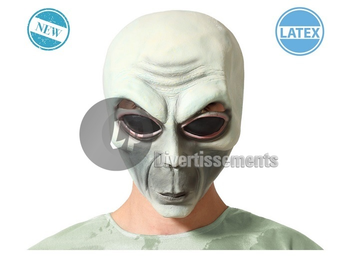 masque en latex alien taille unique