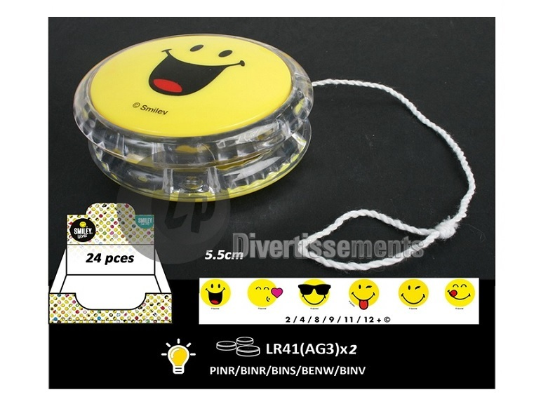 yoyo lumineux smiley MIX 5.5cm