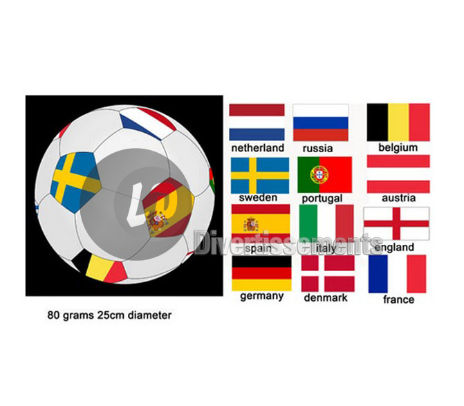 ballon dans filet EURO 2016 25cm