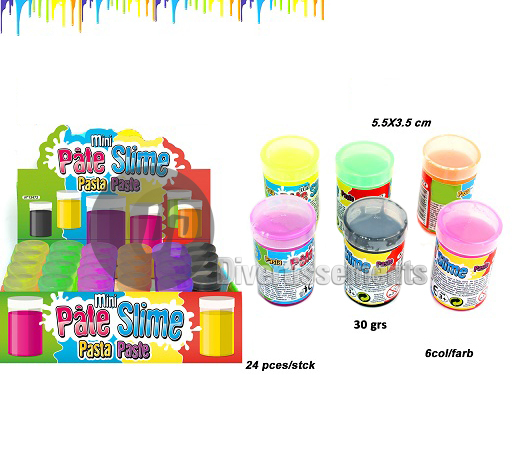 pâte Slime baril FLUO mini MIX 30gr
