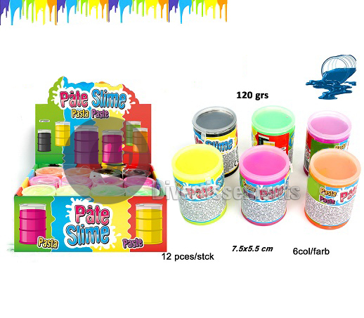 pâte Slime baril FLUO MIX 120gr