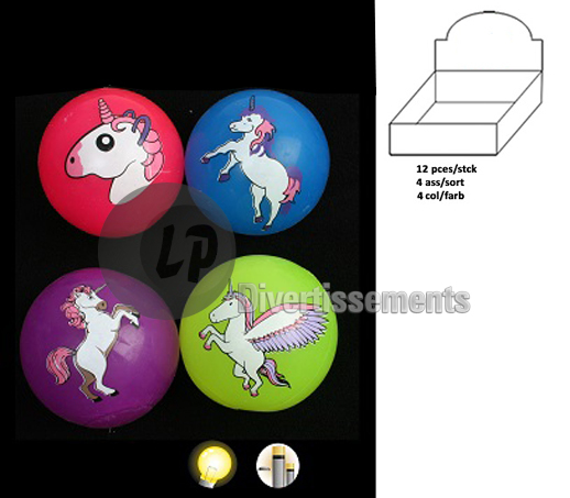 balle lumineuse LED licorne MIX 5.5cm